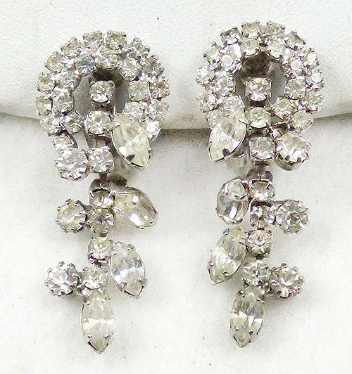 Newly Added Clear Rhinestone Dangle Earrings