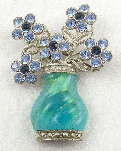 $25 or Less - Avon Vase of Flowers Brooch