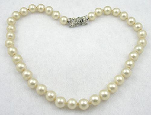 Misc. Signed M-R - Majorica Pearl Necklace