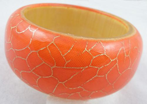 Newly Added Orange Acrylic Bangle Bracelet
