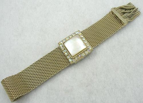 Bracelets - Mother-of-Pearl Mesh Bracelet
