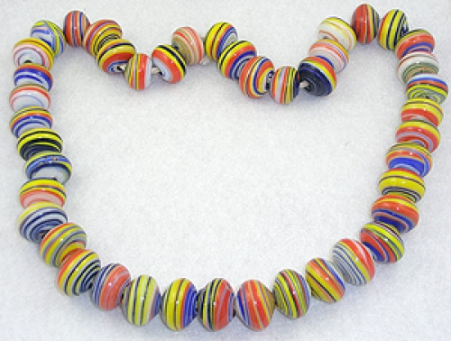Necklaces - Art Glass Beads Necklace