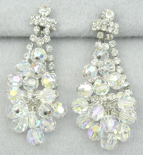 DeLizza & Elster/Juliana - DeLizza and Elster Rhinestone Crystal Chandelier Earrings
