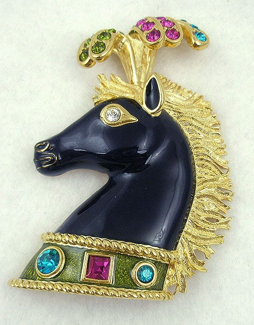 Misc. Signed A-F - Bijoux Cascio Circus Horse Brooch