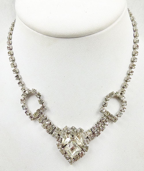 Newly Added Vintage Clear Rhinestone Necklace