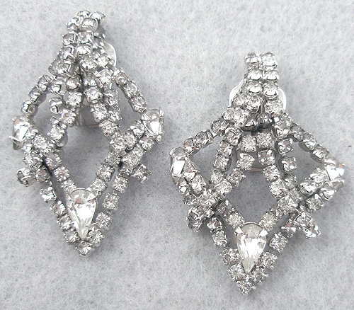 Earrings - Kramer Rhinestone Earrings