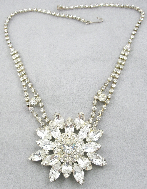 Bridal, Wedding, Special Occasion - Rhinestone Snowflake Necklace