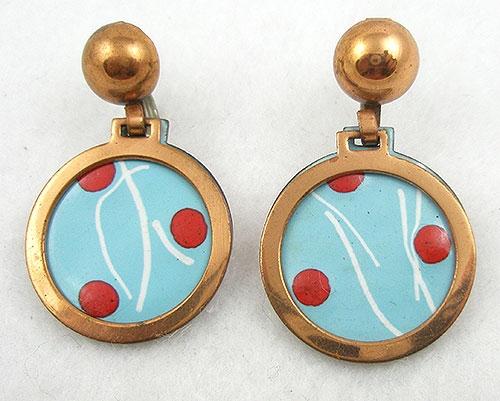 Earrings - Rebajes Enameled Copper Earrings