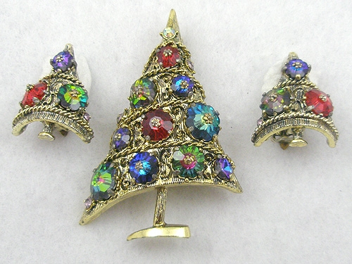 Weiss - Weiss Margarita Christmas Tree Brooch Set