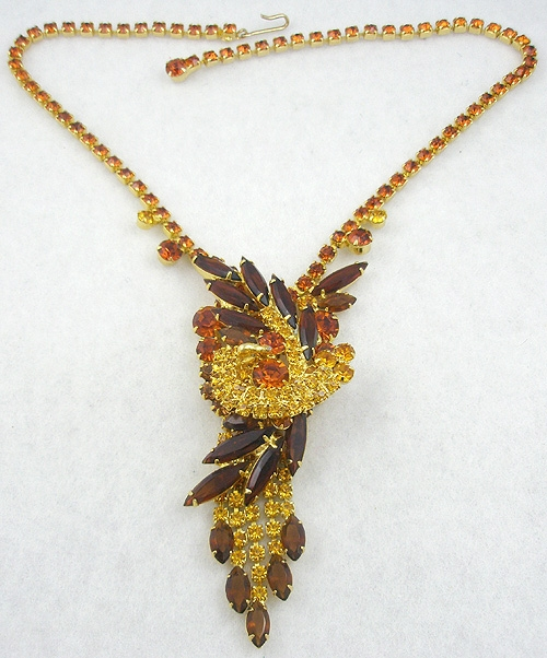 DeLizza & Elster/Juliana - DeLizza & Elster Autumn Rhinestone Necklace