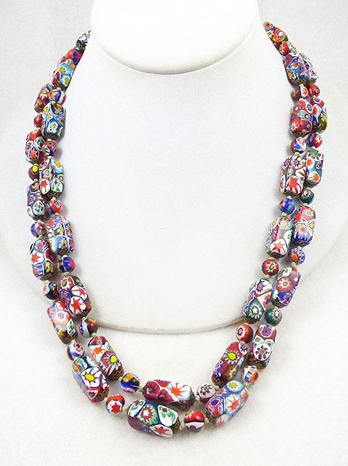 Necklaces - Ventian Millefiori Glass Bead Necklace