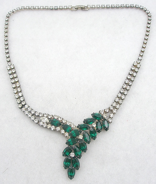 Necklaces - Emerald Rhinestone Necklace