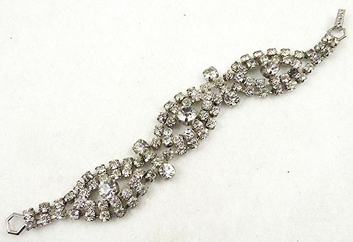 Newly Added Vintage Clear Rhinestone Bracelet