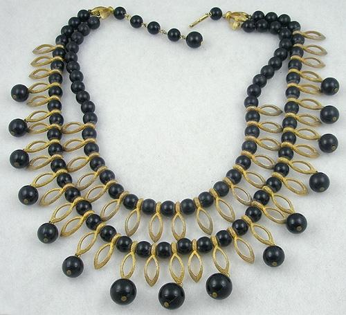 Kramer - Kramer Black Bead Double Strand Necklace