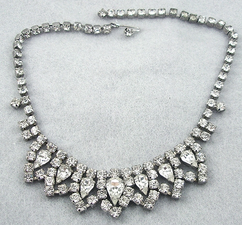 Necklaces - Rhinestone Teardrops Necklace