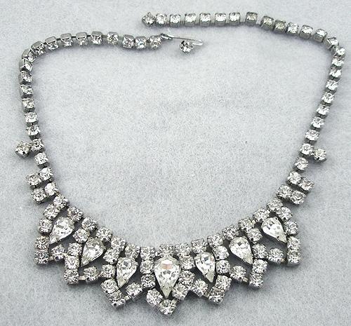 Bridal, Wedding, Special Occasion - Rhinestone Teardrops Necklace