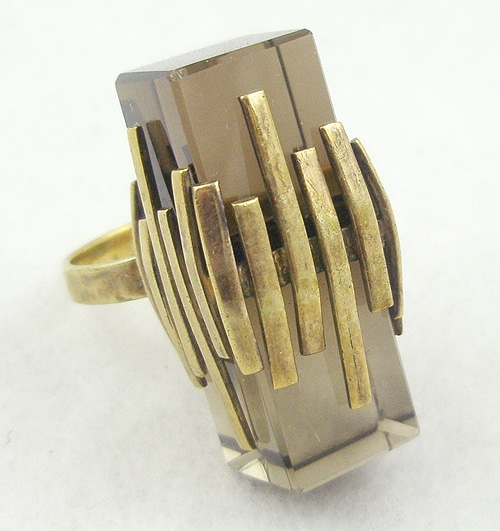 Rings - Smoky Quartz Modernist Ring