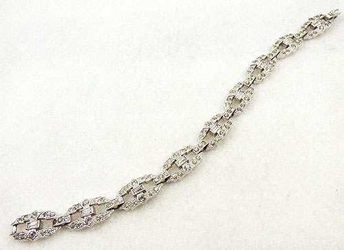Newly Added Engel Bros. Art Deco Rhinestone Bracelet