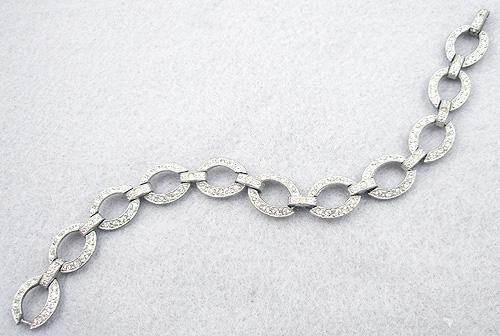 Art Deco - Art Deco Rhinestone Ovals Bracelet