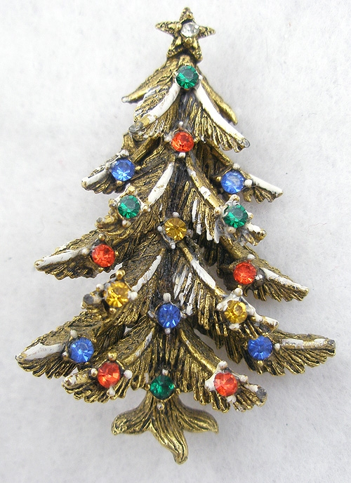 Christmas and Holidays - Art Christmas Tree Brooch