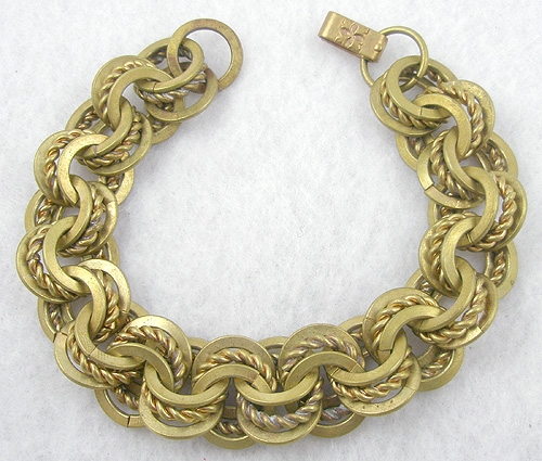 Bracelets - Brass Triple link Bracelet