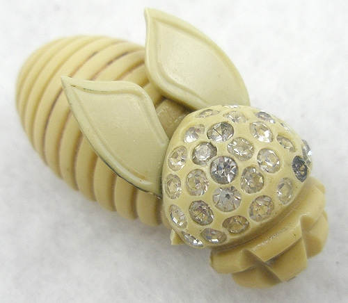 Brooches - Celluloid Bee Brooch