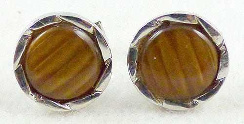 Men's Jewelry - Tiger Eye Lucite Cufflinks