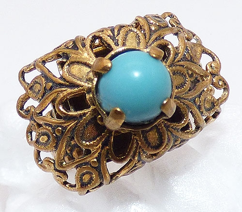 Newly Added German Brass Filigree Ring