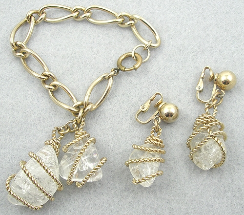 Bergère - Bergere Crackle Glass Charm Bracelet Set