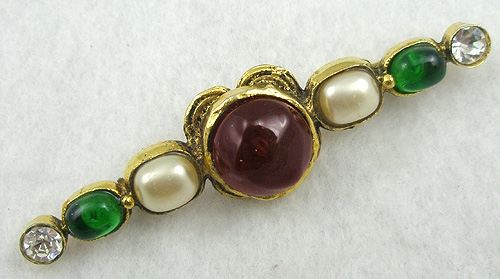 Chanel - Chanel 1985 Poured Glass Faux Pearl Brooch