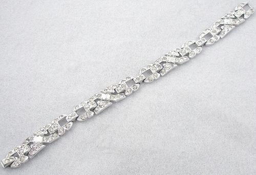 Art Deco - Trifari (KTF) Art Deco Rhinestone Bracelet
