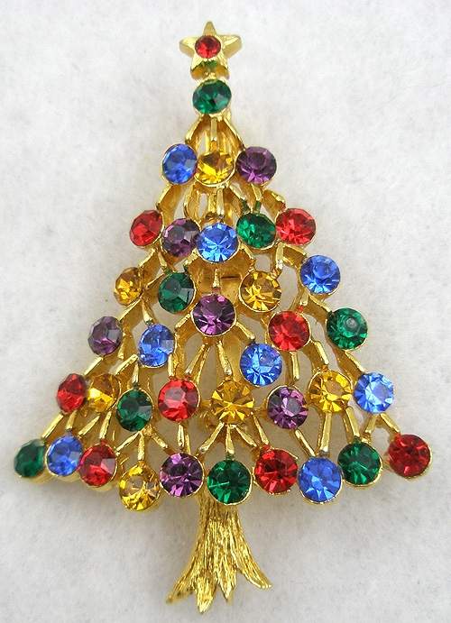 Christmas and Holidays - Jonette Jewelry (J.J.) Christmas Tree Brooch