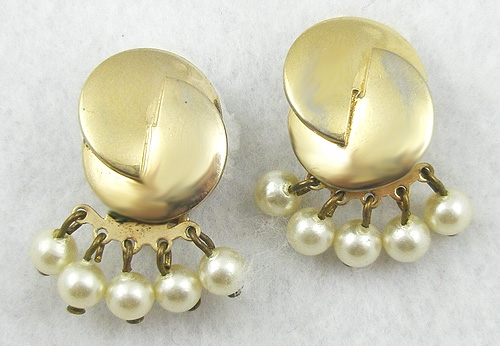 Reinad - Reinad Faux Pearl Dangles Earrings