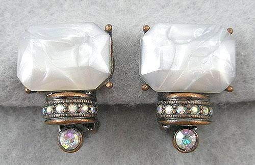 Earrings - White Lucite Earrings