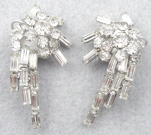 DeLizza & Elster/Juliana - DeLizza & Elster Rhinestone Baguette Earrings