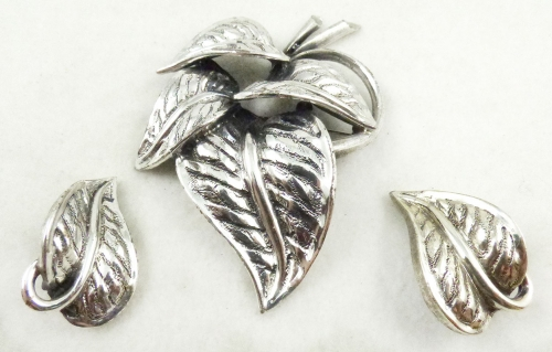 Newly Added Tortolani Anthurium Brooch Set