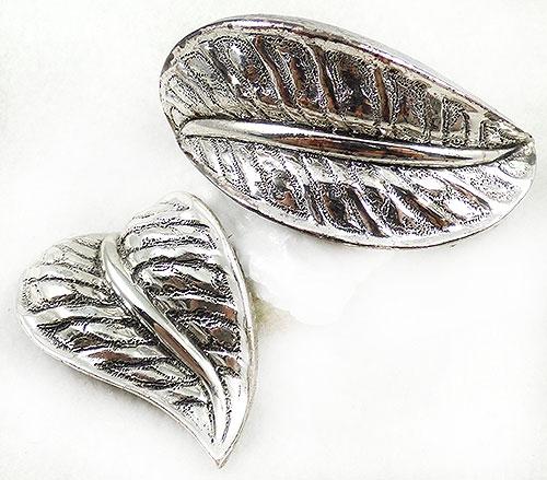 Leaves & Plants - Tortolani Silver Leaf Demi-Parure