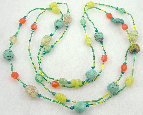 Necklaces - Italian Glass Bead Necklace