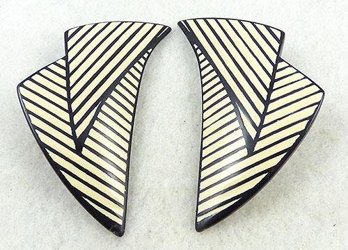 Newly Added Lawrence Bott Striped Resin Earrings