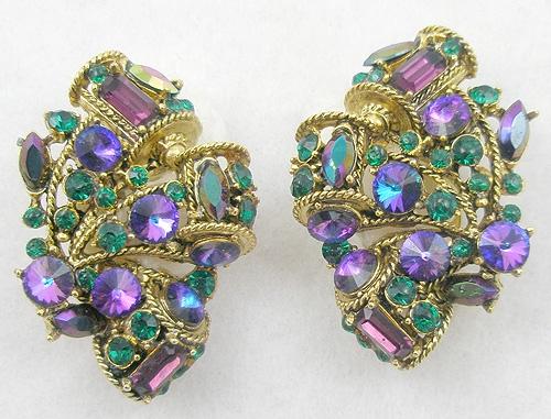 Misc. Signed A-F - Blythe & Blythe Earrings