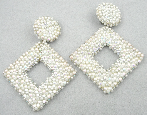 Earrings - Richard Kerr Pearl & Aurora Earrings