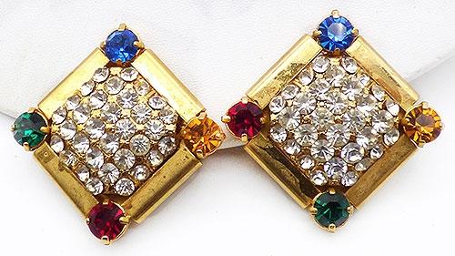 Earrings - Z.E. Co Milano Rhinestone Earrings
