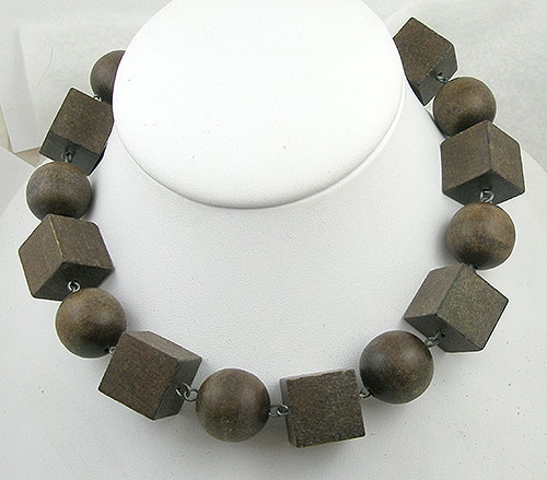 Necklaces - Italian Wood Bead Necklace