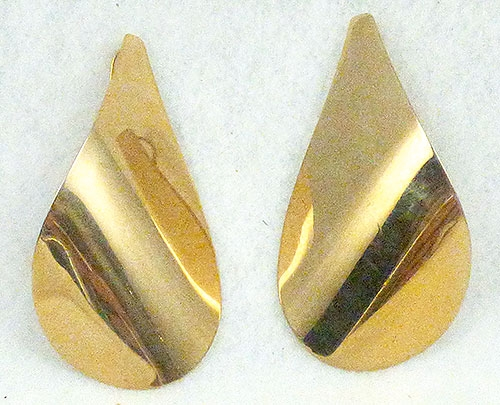 Newly Added Golden Teardrop Statement Earrings