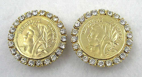 Newly Added 1980's Gold Coin Earrings