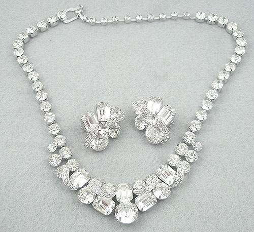 Bridal, Wedding, Special Occasion - Eisenberg Ice Rhinestone Necklace Set