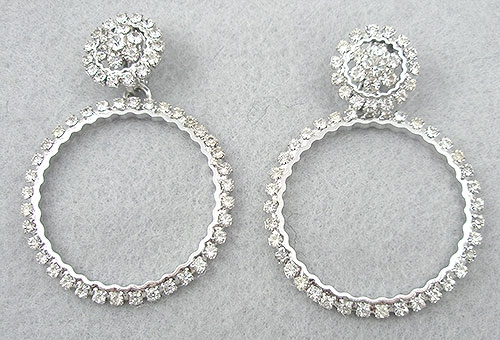 Napier - Napier Rhinestone Hoop Earrings
