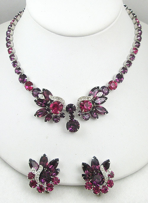 Sets & Parures - Eisenberg Ice Amethyst & Fuchsia Necklace Set