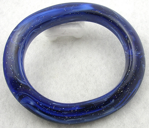 Pantone Color of the Year 2020 - Blue Lucite Glitter Bangle