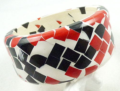 Newly Added Black and Red Confetti Bangle